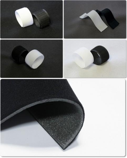 Klettflauschstoff Klettstoff mit Schaum ca. 1,6mm Autopolster,Polstermöbel, Hobby