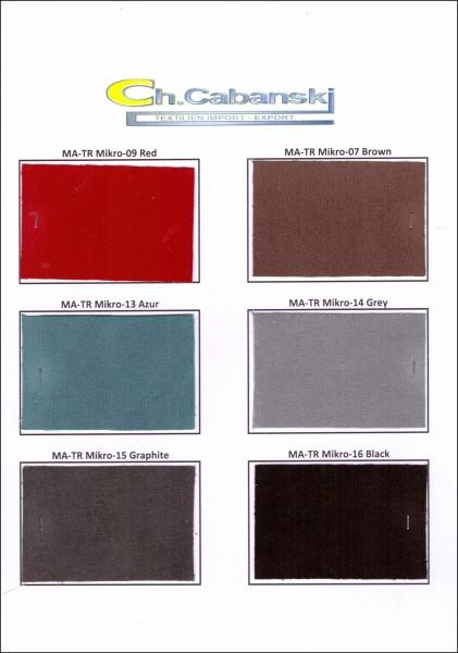 Musterkarte DIN A4 - Wildleder Velours Microfaser Amaretta Imitat
